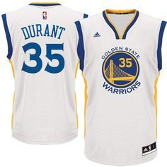 Men's Golden State Warriors Kevin Durant adidas White Replica Basketball Jersey