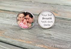 New Daddy gift  Custom Photo Cufflinks  Your by NowThatsPersonal