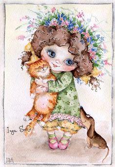 Инга Измайлова современный Российский иллюстратор. Живет в Москве и подписывает свои рисунки Inga SmC.