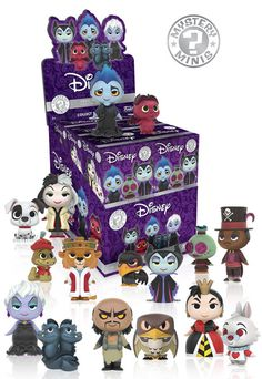 Mystery Minis: Disney Villains Our latest Mystery Minis series highlights the most evil characters from Disney's rich history and their companions! This set features classics like Maleficent and her pet raven Diablo, Ursula and her moray eel minions Flotsam and Jetsam, the Red Queen with White Rabbit, and Cruella de Vil with Patch! Prince John and his confidant Sir Hiss, Shan Yu with Hayabusa the Falcon, and Dr. Facilier accompanied by his Voodoo doll round out the set! Which one will you…