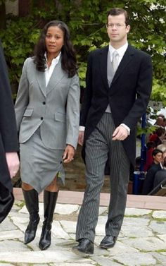 Prince Maximilian of Liechtenstein and his wife Princess Angela. She is Afro-Panamanian and their biracial son Prince Alfons is in the line of succession for the Liechtensien throne. Married 2000.