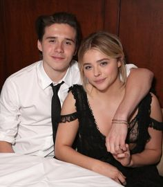 Pin for Later: Chloë Grace Moretz's Sexy Dress Can Only Be Upstaged by 1 Thing — Brooklyn Beckham What a Stylish Match!
