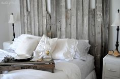 barn wood head board