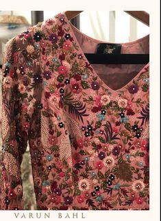 Varun Bahl Sanjeev Kumar, Couture Details, Mirror Work, Hand Embroidery, Floral Tops, Destination Wedding, Mad, Nail Designs, Barbie