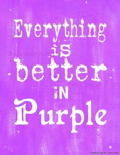 "- ""Everything is better in Purple"" - PDF instant uprint download, art, vintage paper on Etsy"