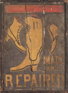 cobblers trade sign, 19th cent