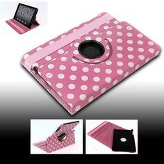 FOR NEW APPLE IPAD MINI CASE COVER SWIVEL STAND POUCH PU PINK AUTO WAKE SLEEP
