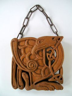 Celtic Bird Wood carving Handmade Woodcarving 59 by OrionCarvings