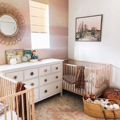 We were over on stories today talking about our ROOM DECOR sale and how it isn't one to miss. Because wallpaper is included! 👏🏻 TAP to shop this newly added mural - we are crushing hard on your nursery Twin Baby Rooms, Baby Bedroom, Baby Room Decor, Girls Bedroom, Twin Room, Twin Nurseries, Baby Cribs, Nursery Twins, Nursery Room
