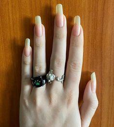 Love Nails, My Nails, Long Natural Nails, Beauty Makeup, Hair Makeup, Clear Acrylic Nails, Nail Growth, Jealousy, Trendy Nails