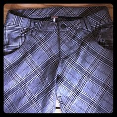 Free people plaid bell lounger These are so comfy! Stretchy, forgiving, yet flattering shape. True to size, waist measuring just under 15 inches, rise is 8 inseam 29-30 with raw hem Free People Pants Trousers