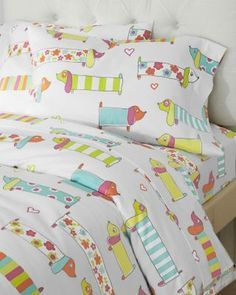 Oh, because I have a dachshund problem.  Puppy Love Flannel Bedding