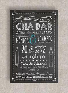 38 Melhores Imagens De Convite Cha Bar Anniversaries Mariage E Tags