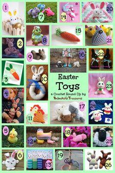 Easter Toys Crochet Pattern Round Up via @beckastreasures