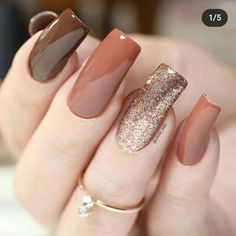 Classy Nails, Stylish Nails, Trendy Nails, Cute Nails, Bling Nails, Swag Nails, Nail Paint Shades, November Nails, Classy Nail Designs