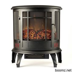 Portable electric fireplace, Free standing electric fireplace and ...