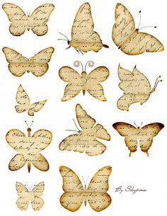 Skypina1 / Nažehlovacie obrázky - papierový motýl