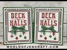 Carols of Christmas Card 2 - Stampin' Up! - YouTube