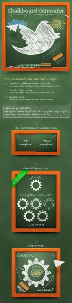 007 Free Chalk Effect and Chalkboard Mockup with