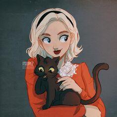Sabrina and Salem ?❤️ Sabrina and Salem ? Cartoon Kunst, Cartoon Drawings, Cute Drawings, Archie Comics, Character Inspiration, Character Art, Itslopez, Cartoon Art Styles, Sabrina Spellman