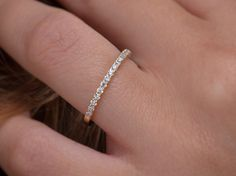 Diamond eternity band Eternity ring Half around diamond