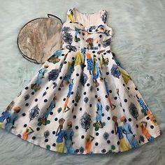 Pin Up Retro Polka Dot Dress S 3D Bow Sweetheart Neckline VLV Homemade A07  | eBay