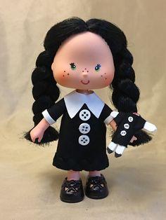 VINTAGE STRAWBERRY SHORTCAKE CUSTOM OOAK DOLL  ~ Halloween ~ Wednesday Addams | Dolls & Bears, Dolls, By Brand, Company, Character | eBay!