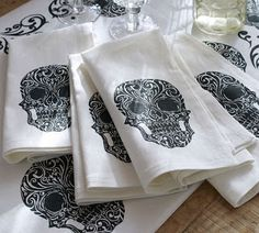 Day of the Dead Napkins from Pottery Barn's 2013 Halloween collection