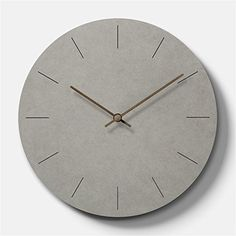 29 of the Best Modern Wall Clocks for Design Enthusiasts in 2018 Modern Wall Clocks, Grey Clocks, Best Wall Clocks, Cool Clocks, Concrete Crafts, Concrete Wall, Wall Clock Hanging, Wall Clock Design, Diy Clock
