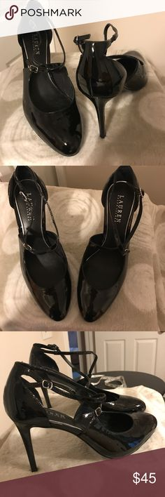 "NWOT Lauren Ralph Lauren black 4"" heels Only tried on in the store. They are really beautiful. Great for work or play. Smoke free home Shoe 9 Lauren Ralph Lauren Shoes Heels"