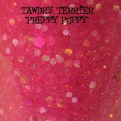 "Tawdry Terrier ""Preppy Puppy"" #macro shot. Available at http://www.etsy.com/shop/TawdryTerrier #nailpolish #indienailpolish"