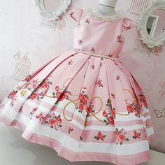 Girls Pageant Dresses, Little Girl Dresses, Baby Girl Fashion, Kids Fashion, Blush Flower Girl Dresses, Baby Girl Dress Patterns, Frocks For Girls, Toddler Dress, Kids Outfits