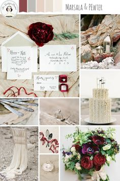 Marsala and Pewter – Beach Wedding Inspiration in an Elegant Colour Palette