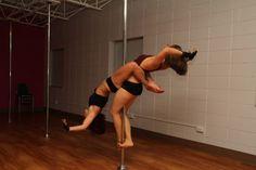 Awesome doubles trick, pole tricks, pole dance #pole #fitness