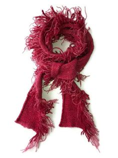 Hand Made Pink knitted scarf made from by Tania Bishop Artisan