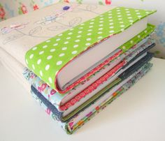 Embroidered applique daisy fabric notebook cover