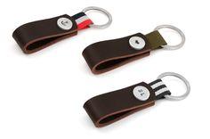 Keychain leather Nato gray von 877