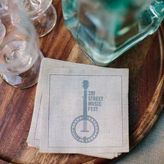 Our custom linen cocktail napkins come in a set of 100 and are screen printed in the US with your artwork or monogram. Made of 100% cotton fibers, they are biodegradable, compostable and recyclable. T