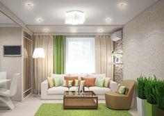 modernes wohnzimmer in gelb und grau gemütlich gestaltet | deco ... - Wohnzimmer Modern Beige