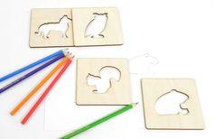Lesní zvířátka – magnetky se šablonkou | DomDom - dřevěné výrobky pro kreativní činnost, didaktické pomůcky, suvenýry