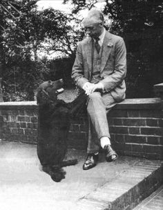 Woof! How many times do I have to tell you not to cross your legs? FM Alexander with his dog/teacher