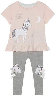 bluezoo Girls Pink Leggings age 2-3