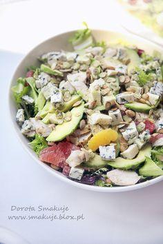 Sosy do sałatek Cobb Salad, Salads, Avocado, Herbs, Cheese, Chicken, Cooking, Party, Food