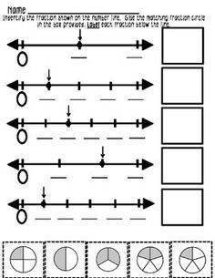 Beginning Equivalent Fractions on a Number Line - fun worksheets!
