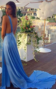 Gorgeous chiffon motifs dance over the bodice of this prom dress, adding dimension to the A-line skirt comprised of comfortable chiffon… in 2020 Straps Prom Dresses, Prom Dresses 2017, Backless Prom Dresses, A Line Prom Dresses, Formal Dresses For Women, Prom Dresses Online, Cheap Prom Dresses, Sexy Dresses, Blue Dresses