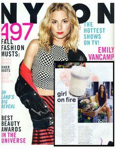 @Flower Girl NYC (Denise Porcaro) red flower custom candle in NYLON magazine's september issue