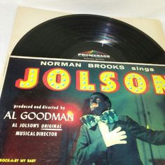 Al Goodman Vinyl LP Norman Brooks Sings Al Jolson 2107 Easy Jazz Classical Music #Classical