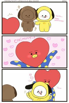 Wahh they are so cute! Vmin, Bts And Exo, Line Friends, Bts Chibi, Bts Fans, I Love Bts, Kpop Fanart, About Bts, Bts Group