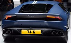 74 G number plate for sale £45,000 www.registrationmarks.co.uk Number Plates, Plates For Sale, Supercars, Numbers, License Plates, Exotic Sports Cars