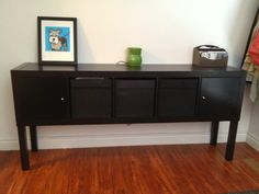 Expedit-Lack Sideboard - IKEA Hackers. I want to do this for a console table.